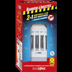 Ampoule LED anti-moustiques 2 en 1 BARZONE, E27, 9w/600 lumens, blancchaud