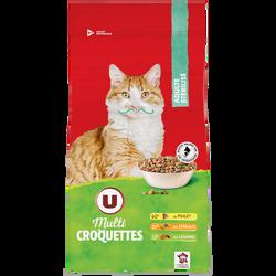 Multicroquettes pour chat adulte stérilisé au poulet,céréales et légumes U, 2kg