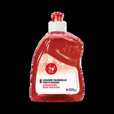 Liquide vaisselle parfum fruits rouges, flacon de 500ml