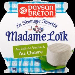 Fromage frais au lait pasteurisé au chèvre Les Recette de MADAME LOIK,24%MG, 150g