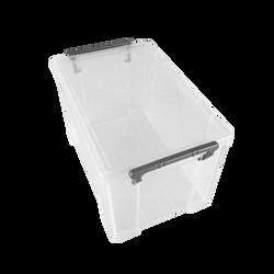 Boite de rangement, en polypropylène, 3,7l, blanc transparent, idéalepour ranger accessoires de bureau
