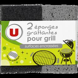 Eponges grattantes pour grill surfaces encrassées U, x2