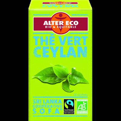 Thé vert Ceylan Bio ALTER ECO, 20 infusettes, 40g