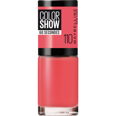 Vernis à ongles colorshow 110 urban coral MAYBELLINE, nu