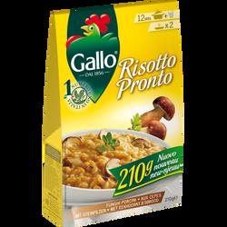 Risotto pronto aux cèpes RISO GALLO, boîte 210g