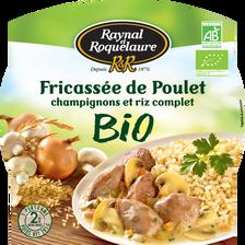 Fricassée de poulet, champignons et riz complet bio RAYNAL ET ROQUELAURE, 285g