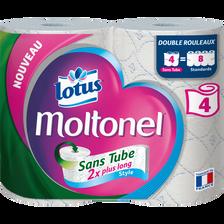 Papier toilette sans tube style Lotus MOLTONEL, 4 rouleaux