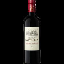 Vin rouge AOP Bordeaux supérieur Château Saint-Léon, 75cl