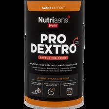 Pro dextro thé pêche NUTRISENS SPORT, pot de 450g