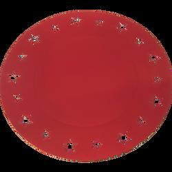 Sous assiettes étoile, rouge satiné, 34cm, 4 unités