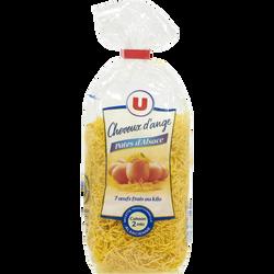 Pates cheveux d'ange IGP d'Alsace aux oeufs U, sachet 250g