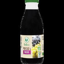 Pur jus de raisin U BIO, bouteille en verre de 1l
