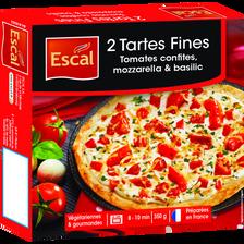 Tartes fines aux tomates surgelées ESCAL, x2 350g