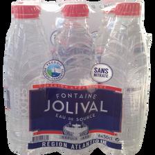Eau de source JOLIVAL, 6 bouteilles de 50 cl
