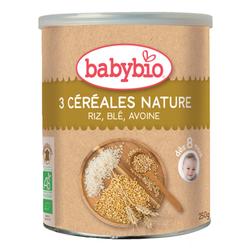3 Céréales Nature riz, blé, avoine BABYBIO dès 8 mois 250g