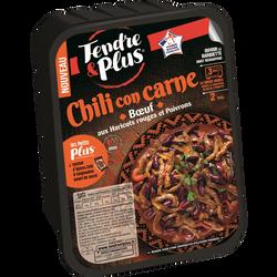 Chili de boeuf, TENDRE PLUS, France, barquette 380g