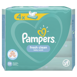 Lingettes fresh clean PAMPERS 4x52