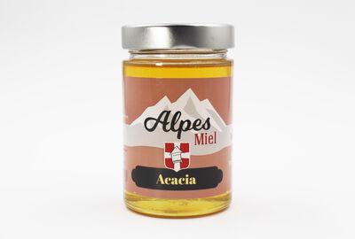 Miel d'acacia MIEL ALPES, pot de 375g