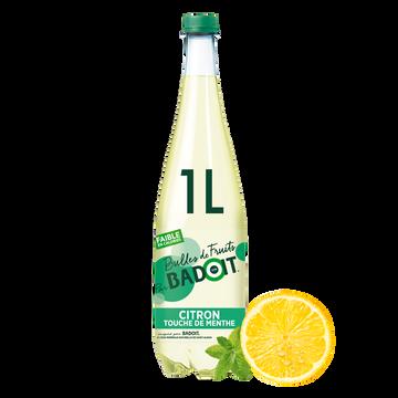Badoit Boisson Gazeuse Badoit Bulles De Fruits Citron-menthe, 1l