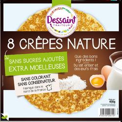 Crêpes natures moelleuses DANIEL DESSAINT, x8, 400g