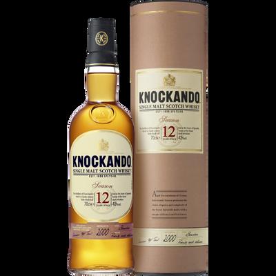 Scotch whisky single malt KNOCKANDO, 12 ans d'âge, 43°, bouteille de 70cl sous étui