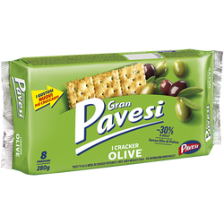 Crackers aux olives PAVESI 280g