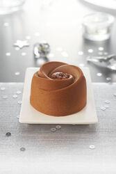 Entremets chocolat caramel décongelé, 1 pièce, 85g