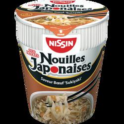 """Nouilles Japonaises saveur boeuf """"Sukiyaki"""" NISSIN, cup de 67g"""
