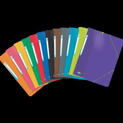 Chemise à élastique 3 rabats School Life ELBA, coins renforcés, 21x29,7cm, coloris assortis EN PRÊT A VENDRE-CARTE LUSTREE