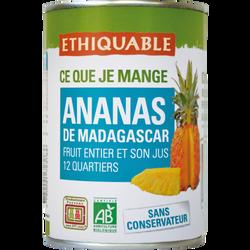 Ananas en quartier de Madagascar Bio ETHQUABLE, 425g