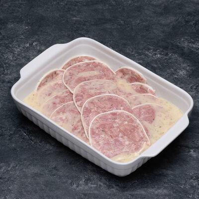 Museau de porc en pétales vinaigrette