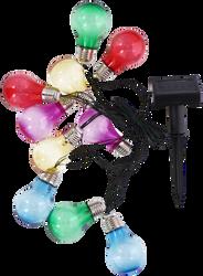 Guirlande solaire 10 led GRUNDIG multicolores - 4,7m