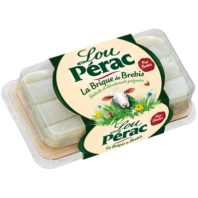 Fromage au lait pasteurisé brique de brebis 26,3% de matière grasse LOU PERAC, 150g