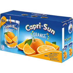 Boisson à l'orange CAPRI SUN, 10x20cl