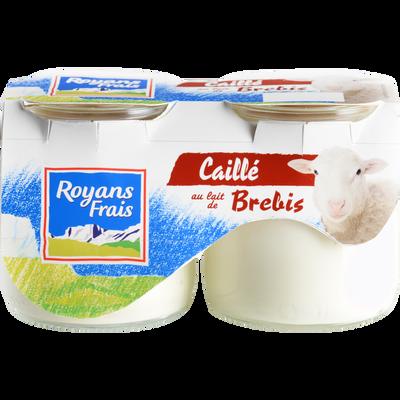 Caillé au lait de brebis nature ROYANS, 2x125g