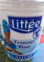 Fromage blanc nature MAN LITTEE, 20%MG, pot de 750g