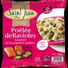 Poêlée ravioles saumon et courgettes grillées SAINT JEAN700g