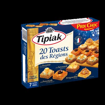 Toasts des regions TIPIAK, X20 soit 160g