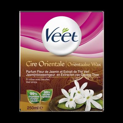 Cire orientale parfum fleur de jasmin VEET, pot de 250ml