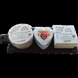 Planche de pays d'Auge 3 fromages, AOP, 690g