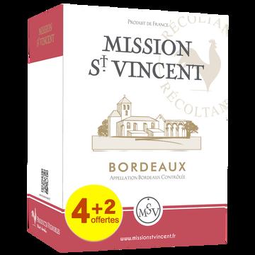 Mission Saint Vincent Bordeaux Aop Rouge Mission Saint Vincent, 4+2 Offert