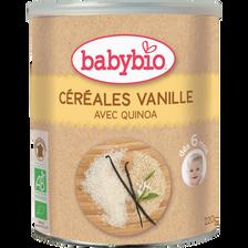 Céréales infantiles instantanées à la vanille BABYBIO, dès 6 mois, 220g