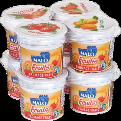 Fromage frais aux fruits MALO, 40% de MG, 8x100g