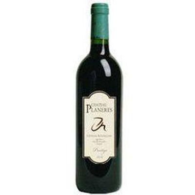 Vin Rouge CHÂTEAU PLANERES PRESTIGE, Côtes du Roussillon, bouteille de 75Cl