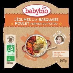 Assiettes légumes poulet BABYBIO, dès 15 mois, 260g