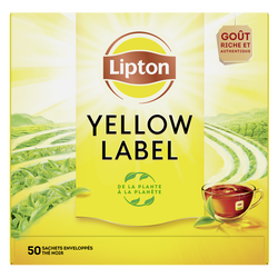 Thé Yellow Label LIPTON, x50 soit 100g