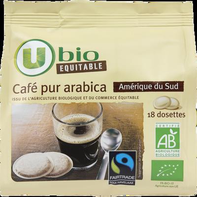 Café Amérique du Sud Max Havelaar U BIO, 18 dosettes de 7g, 125g