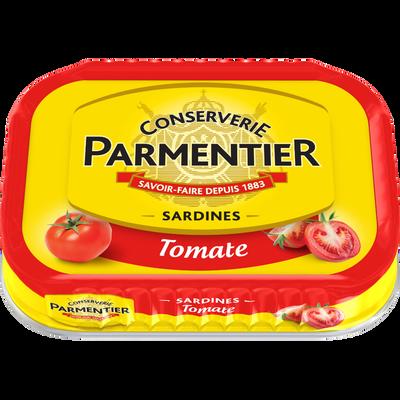 Sardines à la tomate PARMENTIER, boîte de 135g