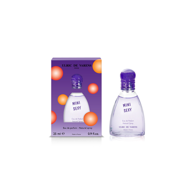 Eau de parfum mini sexy ULRIC DE VARENS, vaporisateur de 25ml