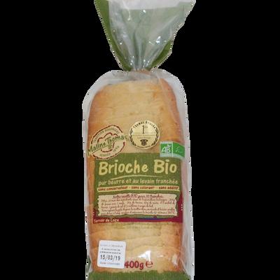 Brioche bio tranchée pur beurre MALINE THOMAS, 400g